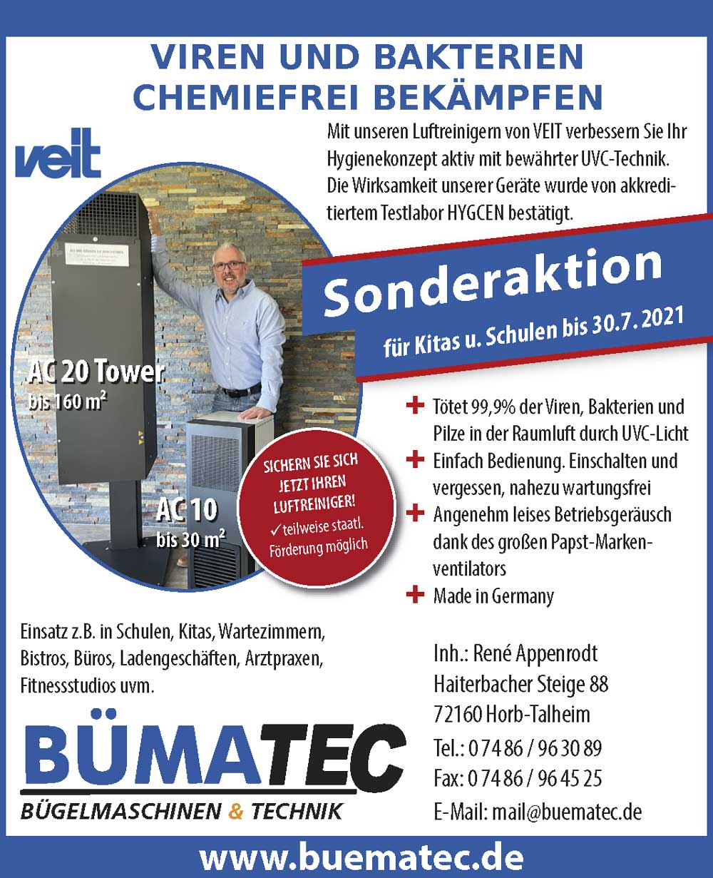 Bümatec Luftreiniger AC10 und AC20